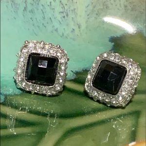 💥4/$10💥 Black & Rhinestone Stud Earrings